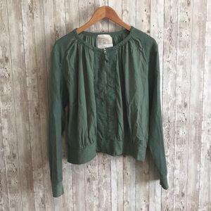 Anthropolgie Hei Hei green zip up jacket